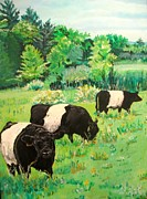Oreo Framed Prints - Oreo Cows Framed Print by Frank Giordano