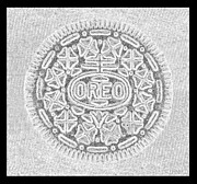 Oreos Prints - OREO in GREY Print by Rob Hans