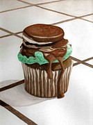 Oreo Painting Prints - Oreo Mint Print by Celestrya Sweets