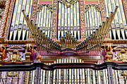 Religious Structure Framed Prints - Organ in Cordoba Cathedral Framed Print by Artur Bogacki