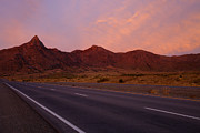 Highway Photo Posters - Organ Mountain Sunrise Highway Poster by Mike  Dawson