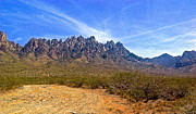 Southwest Pyrography Posters - Organ Mountains NM Poster by JoeEd Casillas
