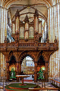 South Minster Framed Prints - Organ Pipes Framed Print by David  Hollingworth