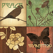 Distressed Mixed Media Posters - Organic Nature 1 Poster by Debbie DeWitt