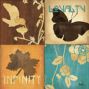 Insects Mixed Media Posters - Organic Nature 3 Poster by Debbie DeWitt