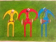 Oricha's Drummers Print by Idael  Sotomayor