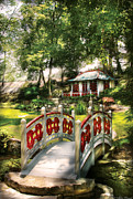 Peaceful Art - Orient - Bridge - The bridge to the Temple  by Mike Savad