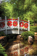 Arched Bridge Photos - Orient - Bridge - Tranquility by Mike Savad
