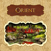 Japan Framed Prints - Orient  button Framed Print by Mike Savad