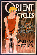Waltham Posters - Orient Cycles 1890 Poster by Unknown