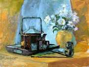 Oriental Teapot Paintings - Oriental Teapot by Sharen AK Harris