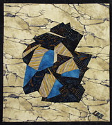 Quilts Tapestries - Textiles - Origami by Lynda K Boardman