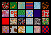 Colorful Quilts Posters - Origami Quilt Poster by Christine Perry