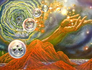 Cosmology Paintings - Origin of the Multiverse by Sam Del Russi