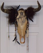 Featured Sculptures - Original - Indian Skull by Beauford