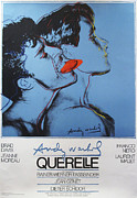 1980s Drawings - Original 1980s German Movie Poster by Andy Warhol - Querelle by Andy Warhol
