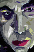 Abstract Faces Posters - Original Abstract Art bela Lugosi Dracula Poster by Ginette Callaway