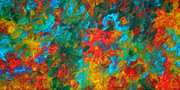 Fall Colors Mixed Media - Original Abstract Painting Digital Conversion For Textured Effect AUTUMNS COLOR By Madart by Megan Duncanson