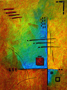 Handmade Art - Original Abstract Painting Digital Conversion for Textured Effect RESONATING III by MADART by Megan Duncanson