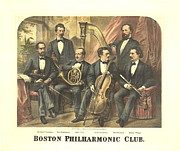 Concerts Framed Prints - Original Boston Philharmonic Club 1875 Framed Print by Padre Art