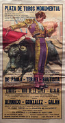 Barcelona Drawings - Original Bull Fighting Poster Plaza de Toros Monumental by Unknown