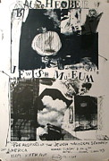 Signed Poster Drawings - Original Exhibition Poster Jewish Museum by Robert Rauschenberg