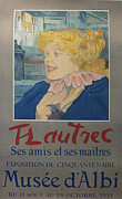 1951 Drawings - Original Exhibition Poster Musee Albi Toulouse Lautrec by Toulouse Lautrec