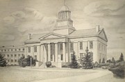 Capital Drawings - Original Iowa State Capital by Todd Spaur