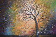 Drips Painting Originals - Original Landscape Tree Painting Landscape Art ... Take These Dreams by Amy Giacomelli
