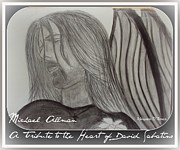 Angels Drawings - Original Michael Allman Angel Sketch by Maryann  DAmico