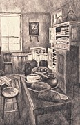 Original Old Fashioned Kitchen Print by Kendall Kessler
