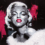 Actors Painting Originals - Original painting Marilyn Monroe by Enxu Zhou