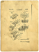 Lego Prints - Original US Patent for Lego Print by Edward Fielding