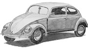Vw Beetle Originals - Original VW Beetle by Catherine Roberts