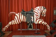 Galloper Posters - Original Zebra Carousel Ride Poster by Lee Wright