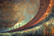 Space Art Paintings - Origins by Lucy West
