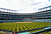 Baltimore Orioles Stadium Framed Prints - Oriole Park at Camden Yards Framed Print by Bill Cannon