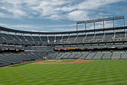 Baseball Fields Metal Prints - Oriole Park at Camden Yards Stadium Metal Print by Susan Candelario