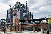 Baseball Stadiums Framed Prints - Oriole Park at Camden Yards Framed Print by Susan Candelario