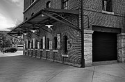 Ball Parks Prints - Oriole Park Box Office BW Print by Susan Candelario