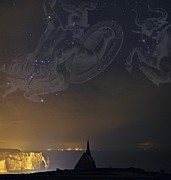 Orion And Taurus Over Normandy, France Print by Science Photo Library