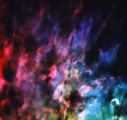 Orion Nebula Photos - Orion Nebula Rainbow Smoke by The  Vault