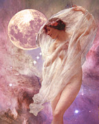 Constellations Digital Art Posters - Orions Dancer Poster by Maureen Tillman