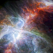 Hubble Photos - Orions Rainbow of Infrared Light by Adam Romanowicz