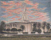 Hardy Drawings - Orlando Florida LDS Temple by Pris Hardy