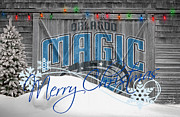 Freethrow Metal Prints - Orlando Magic Metal Print by Joe Hamilton