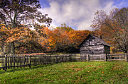 Log Cabins Photos - Orlean Pucketts Cabin by Benanne Stiens