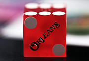 Craps Framed Prints - Orleans Red Framed Print by John Rizzuto