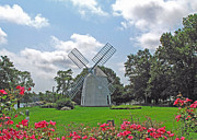 Grist Mill Prints - Orleans Windmill Print by Barbara McDevitt