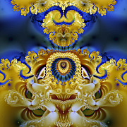 Manley Posters - Ornamental Fountain - A Fractal Design Poster by Gina Manley